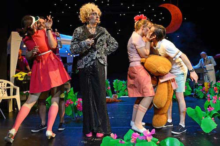 Im Kleinen Haus des Oldenburger Staatstheaters tanzten bei Charleys Tante überzeichnete Figuren auf der Bühne – mitunter auf hohen Absätzen.
