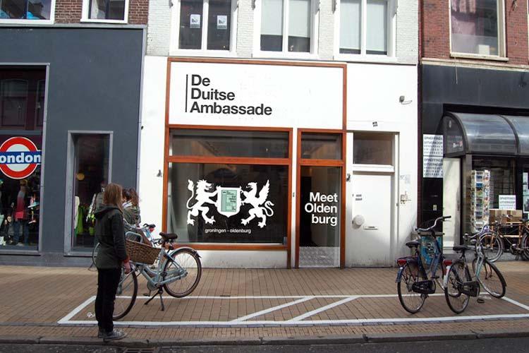 De Duitse Ambassade in der Groninger Innenstadt.