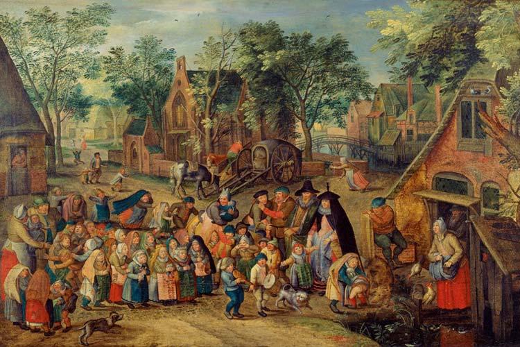 Das Pfingstbraut-Spiel um 1620 von Pieter Brueghel d.J.