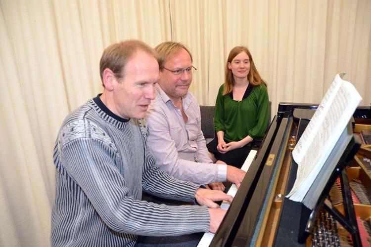 Thomas Bönisch, Stephan Tetzlaff und Rebecca Graitl proben schon mal gemeinsam.