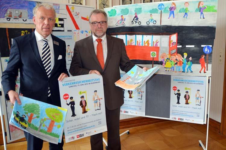 Michael May und Johann Kühme laden zum Verkehrssicherheitstag nach Oldenburg ein.