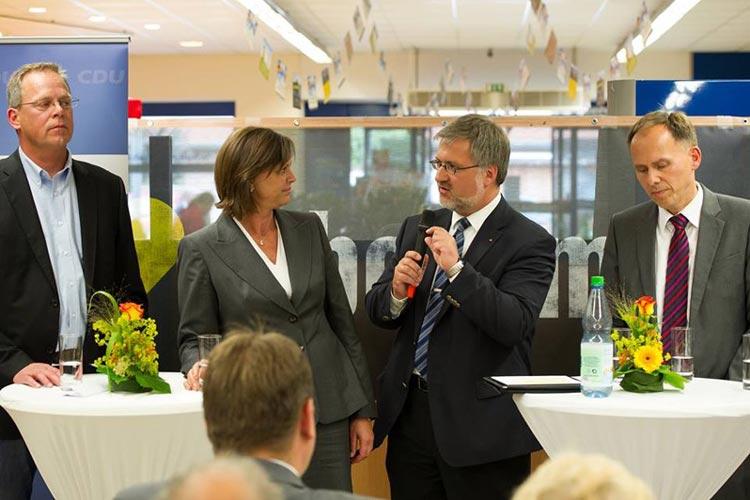 Für die Diskussion Die Sicherheit und Qualität unserer Lebensmittel mit Ilse Aigner hat sich die CDU einen ungewöhnlichen Ort ausgesucht.