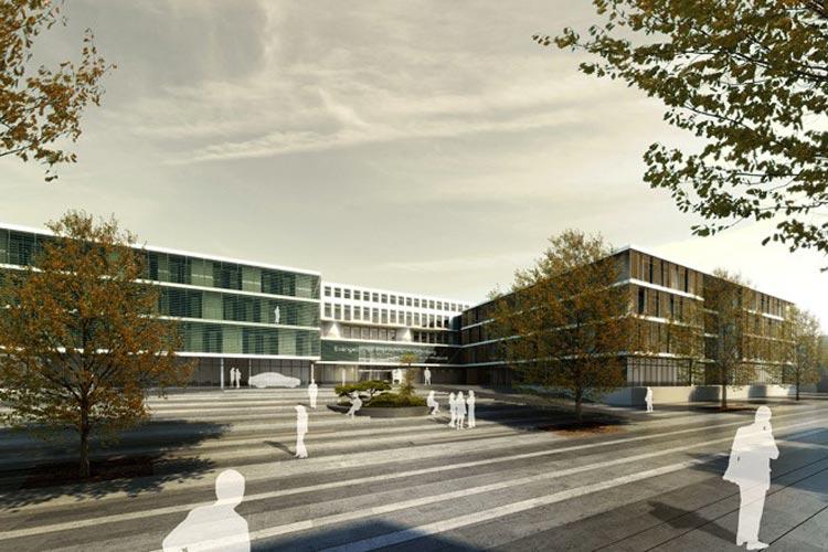 Das Evangelische Krankenhaus in Oldenburg soll komplett umgebaut werden. So soll es im Endzustand aussehen.