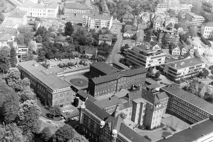 Die alte JVA an der Gerichtsstraße in Oldenburg aus der Luft.