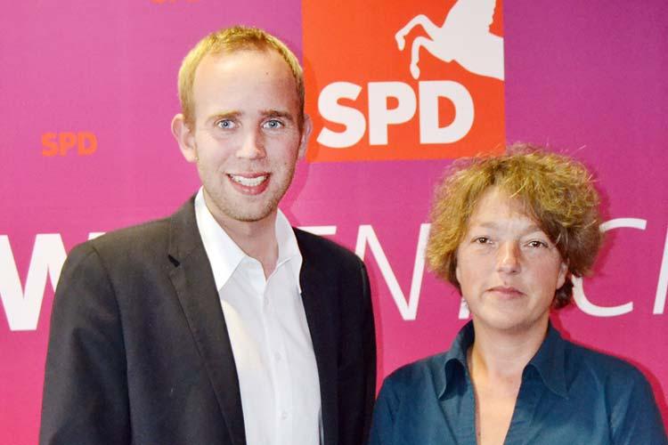 Dennis Rohde und Hanna Naber wollen die Interessen ihrer Heimatregion auf Bezirksebene vertreten.