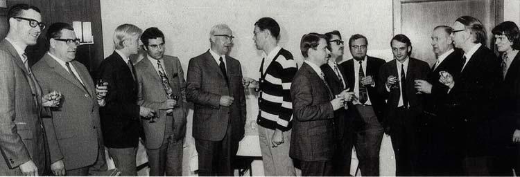 Der Gründungsausschuss der Universität Oldenburg im Jahr 1971.
