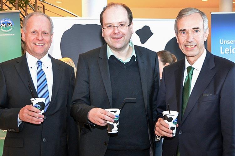 Landwirtschaftskammerdirektor Hans-Joachim Hamrs und Kammerpräsident Arendt Meyer zu Wehdel begrüßten Christian Meyer, Niedersächsischer Minister für Ernährung, Landwirtschaft und Verbraucherschutz.