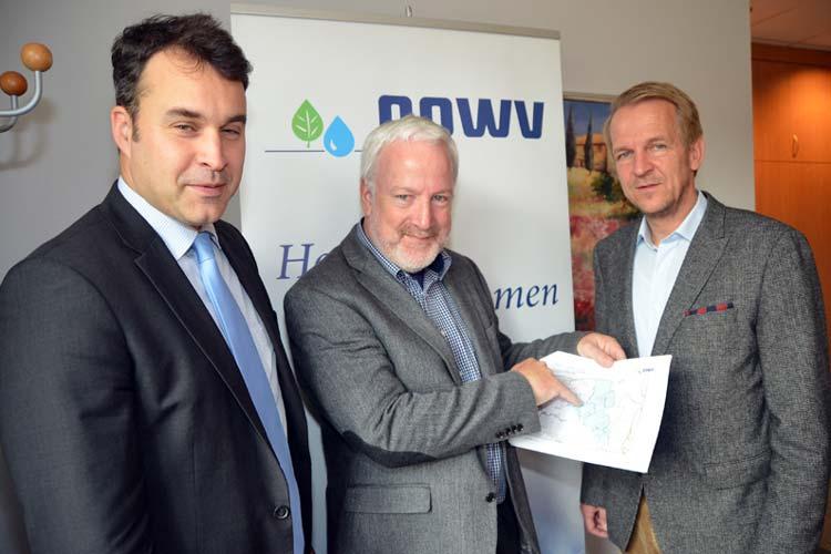 Jens Wolf, Egon Harms und Matthias Schöniger stellten das gemeinsame Projekt NAWAK vor.