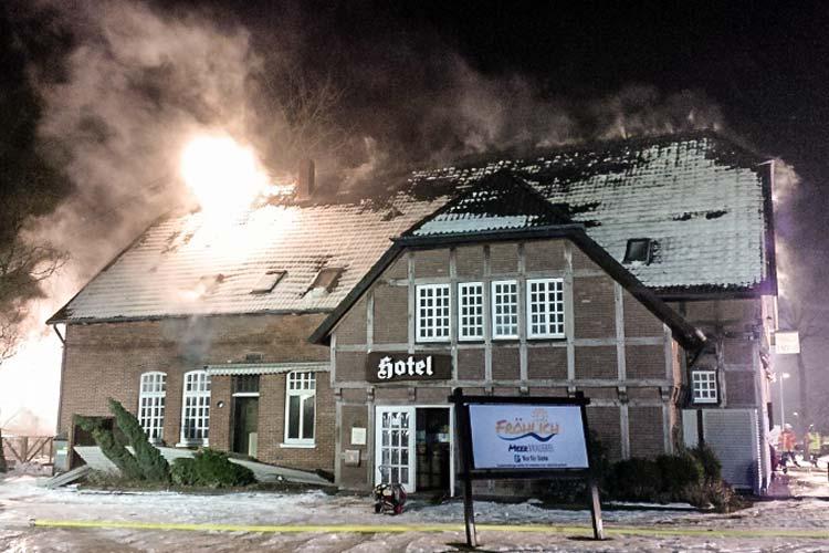 Die ehemalige Fröhlich Meer-Brauerei brannte am 31. Januar ab.