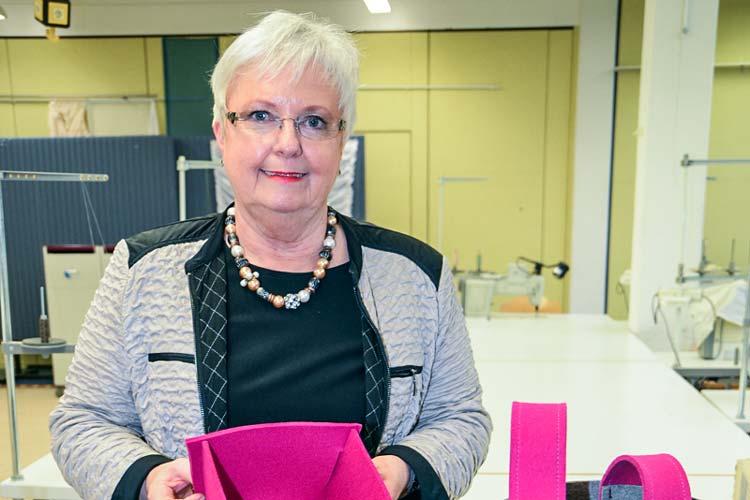 Gisela Schang, Leiterin der Fachschule für das Handwerk Raumausstattung.