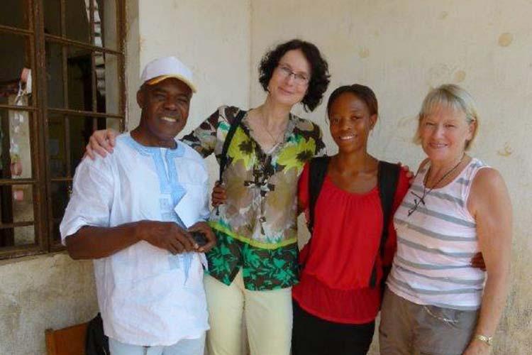Im Dezember trafen sich Musa Bainda, Dr. Nicole-Gorris-Vollmer, Sia Finnoh und Gisela Bednarek (von links) in Sierra Leone.