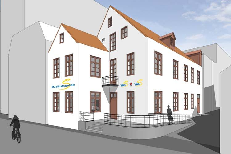 So wird die Mobilitätszentrale am Oldenburger Lappan nach der Moderniesierung aussehen.
