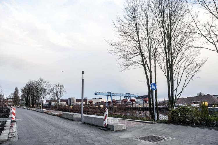 In Oldenburg entsteht zurzeit der Alte Stadthafen.