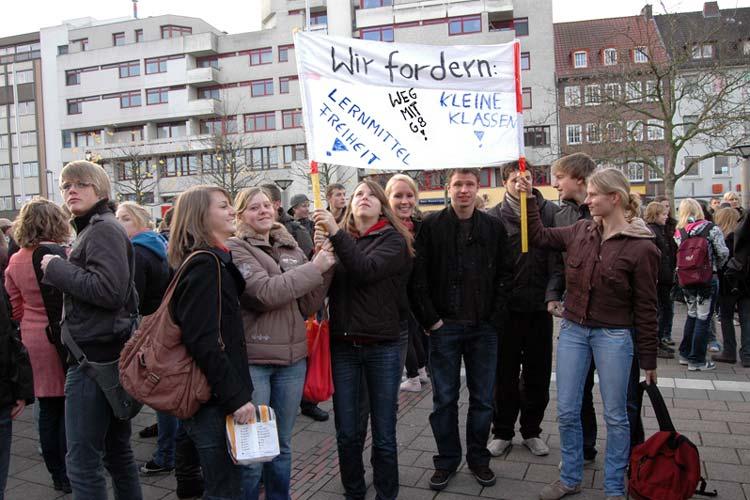 Auch in Oldenburg wurde gegen das G8 – das achtjährige Gymnasium – demonstriert.