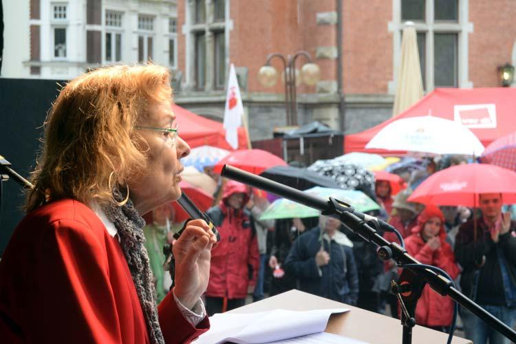 DGB Maikundgebung Oldenburg: Ursula Engelen-Kefer hielt die Mai-Rede.