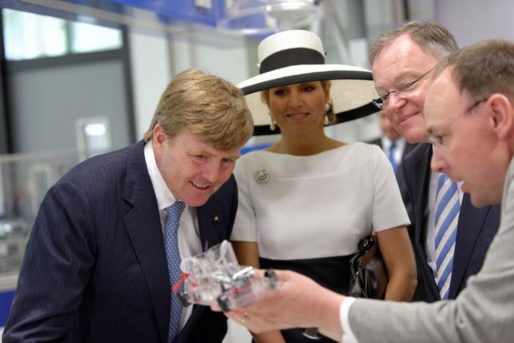 An der Universität Oldenburg herrschte heute Ausnahmezustand. Grund war der Besuch von König Willem-Alexander und Königen Máxima.