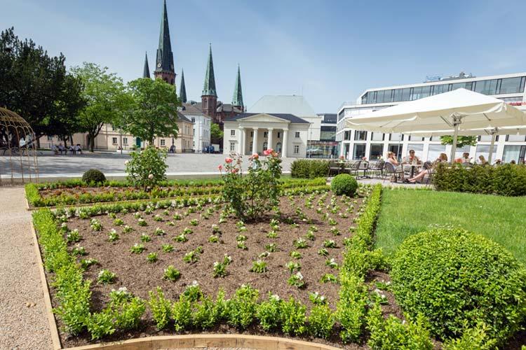 Stadtgarten am Oldenburger Schloss.
