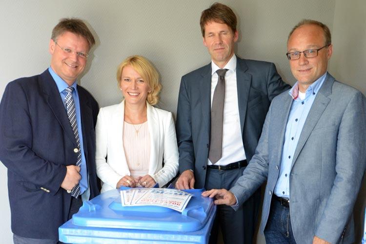Carsten Heine, Kerstin Meyer, Dr. Martin Dieckmann und Hendrik Rösing sehen dem Rechtsstreit gelassen entgegen