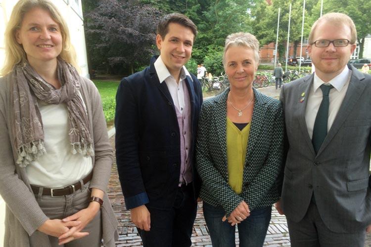 Alexandra Reith, Sebastian Beer, Andrea Hufeland und Sascha Brüggemann bilden die neue Doppelspitze und deren Stellvertretung in der Grünen-Fraktion.