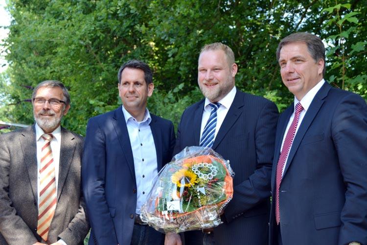 Wolfgang Weinert, Olaf Lies, Ulf Prange und Jürgen Krogmann waren mit dem ersten SPD-Parteitag ohne Delegiertenprinzip zufrieden.