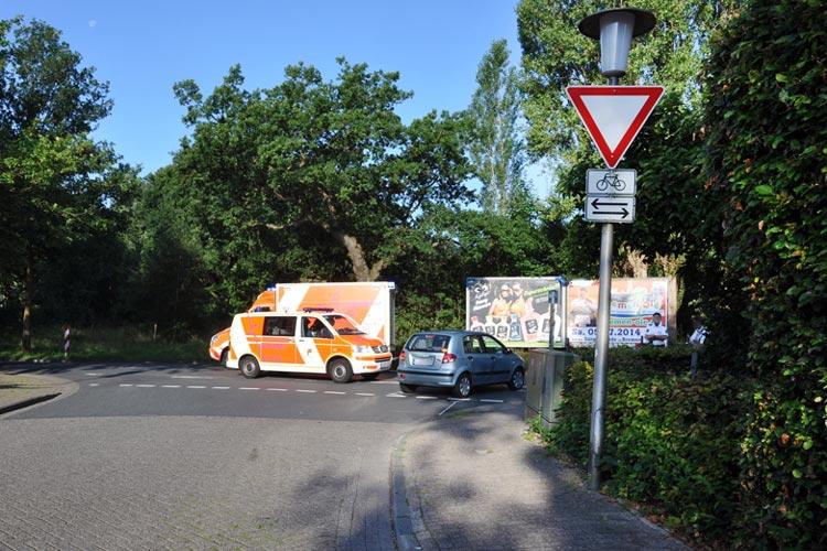 Bei einem Unfall in Krusenbusch wurde eine Radfahrerin schwer verletzt.