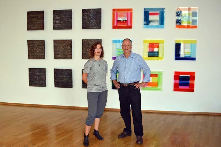 Nicola Stäglich und Wulf Kirschner begeben sich in in ihrer gemeinsamen Ausstellung Crossover im Oldenburger Stadtmuseum in einen Kunstdialog.