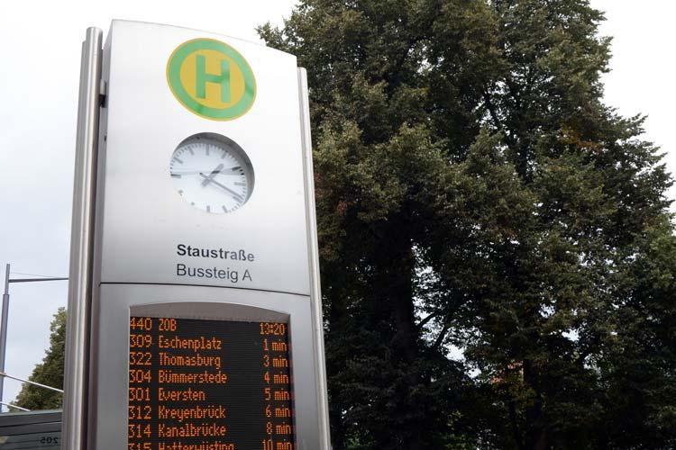 Die Linie 440, der WeserSprinter, soll an der Haltestelle Staustraße in Oldenburg ahrgäste aufnehmen.