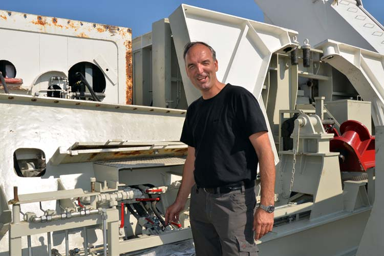 Theo Rosenzweig freut sich über die Zeit für Wartungsarbeiten am Steiger Riesenrad.