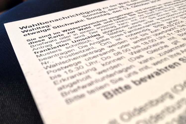 etzt sollten alle Wahlberechtigten ihre Wahlbenachrichtigungskarte zur Oldenburger Oberbürgermeisterwahl erhalten haben. Wer seine Wahlbenachrichtigungskarte vermisst, sollte sich jetzt im Wahlbüro melden.