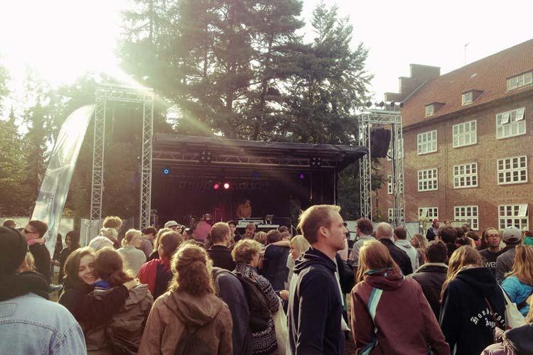 Peter Paasch spielt den Waldemar-Song auf dem Freifeld Festival in Oldenburg.