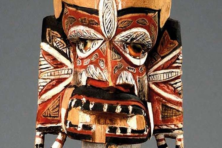 Malagan-Figur aus der Papua-Kultur, spätes 19. Jahrhundert, Neu-Irland.