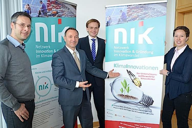 Dr. Martin Vehse hat bereits beste Erfahrungen mit dem Team des Netzwerkes Innovation und Gründung im Klimawandel (NIK) bestehend aus Dr. Klaus Fichter, Dr. Tina Schneider und Dr. Karsten Hurrelmann gemacht.