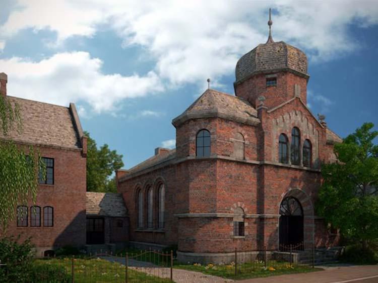 Ein Student der Jade Hochschule hat die einstige Synagoge an der Peterstraße anhand von historischen Aufnahmen am PC rekonstruiert.