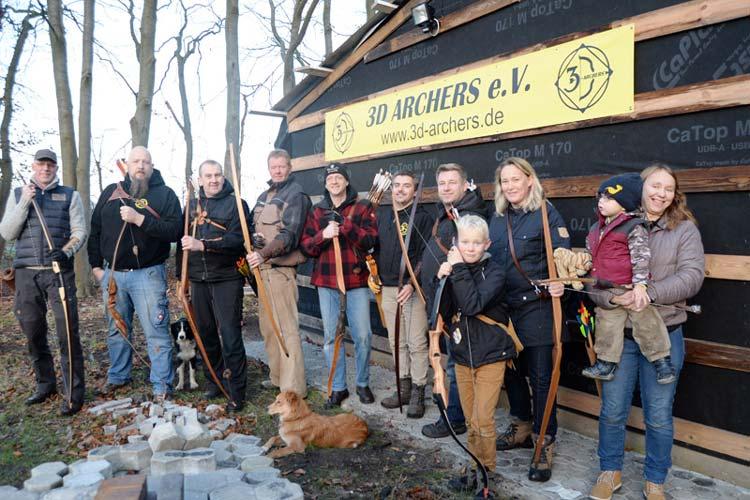 Die ehemalige Fernmeldebaracke auf dem Fliegerorst wurde zum Vereinsheim der 3D Archers umfunktioniert.