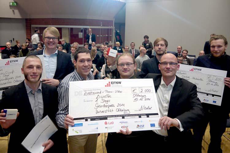 Das Oldenburger Start-up LowoTec ist mit dem mit 2000 Euro dotierten Gründerpreis der Universität Oldenburg ausgezeichnet worden.