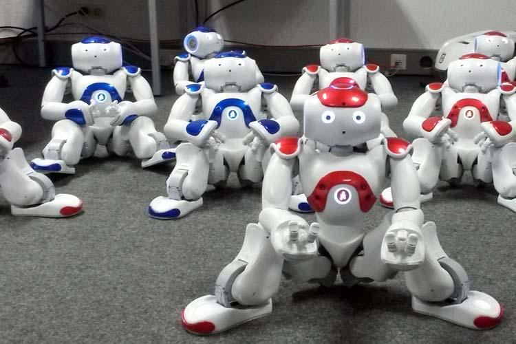 Wie kann ich helfen, fragt Alias, der lebensgroße Roboter mit seinen schönen klimpernden Augen. Er steht den Studierenden der Jade Hochschule im Fach Assistive Technologien am Studienort Oldenburg zur Verfügung.