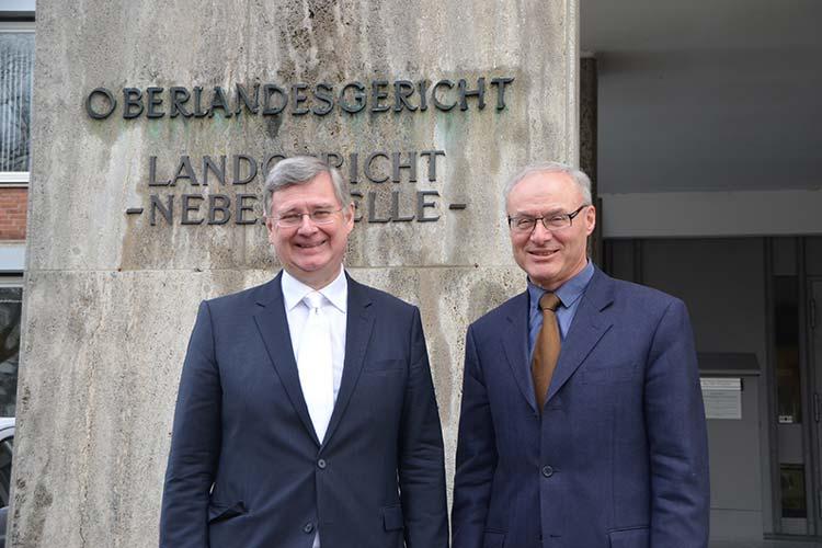 OLG-Präsident Dr. Gerhard Kircher (rechts) geht heute in den Ruhestand. Sein Stellvertreter Dr. Michael Kodde wird das Amt kommissarisch übernehmen.