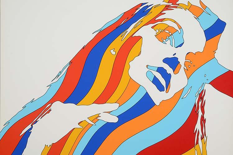 Werner Berges: Frauenkopf, Ausschnitt, 1972