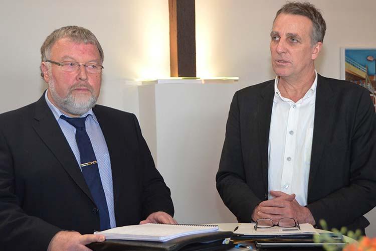 Heiko Albers und Stefan Wenzel informierten über den künftigen Küstenschutz.