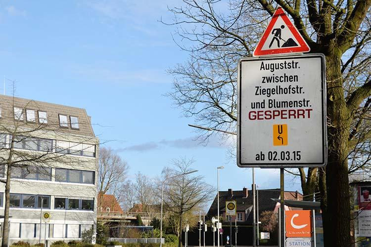 Ab Montag, 2. März, werden drei Straßenbaustellen den Verkehr in Oldenburg einschränken.