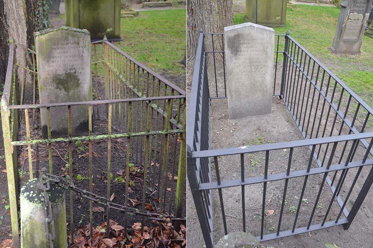 Auf dem historisch bedeutsamen Oldenburger Gertrudenfriedhof legen Gärtner und Steinmetze sichtbar Hand an.