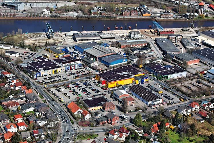 Auf dem Gelände der MACO City und Rhein-Umschlag in Oldenburg sollen Wohnen, Gewerbe und Nahversorgung entstehen.