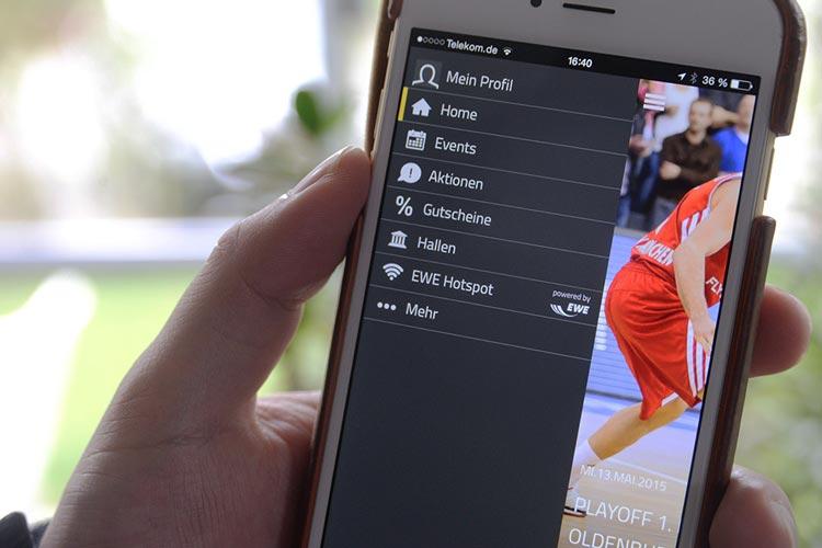 Mit der EWE Arena App schlüpfen die Weser-Ems Hallen in eine bundesweite Vorreiterrolle.