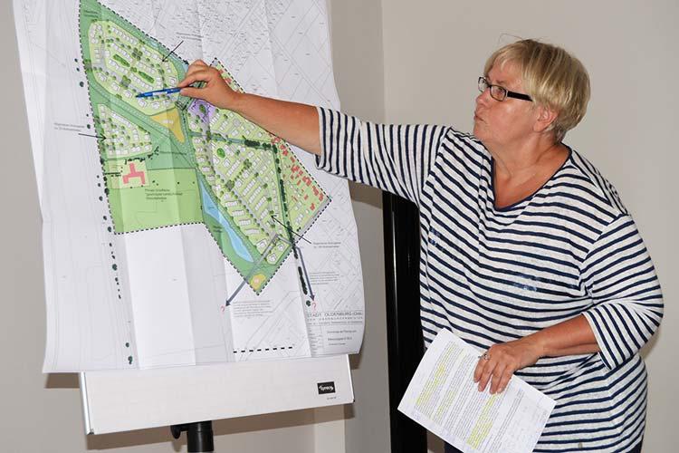 Elke Wicherts stellte die ersten Ideen des neuen Baugebietes in Osternburg / Tweelbäke vor.