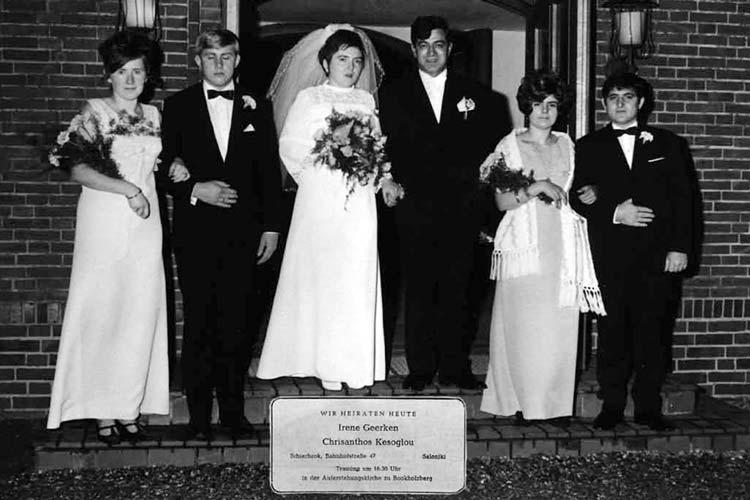 Die griechisch-deutsche Eheschließung von Irene Geerken und Chrisanthos Kesoglou war 1969 etwas Besonderes.