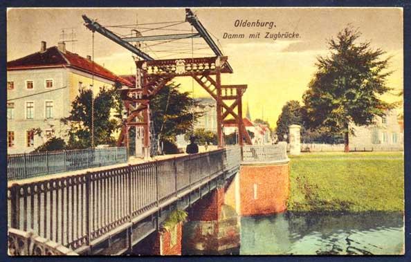Die Cäcilienbrücke um 1910 zierte eine Postkarte.