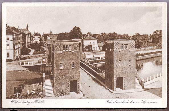 Die Cäcilienbrücke um 1935.