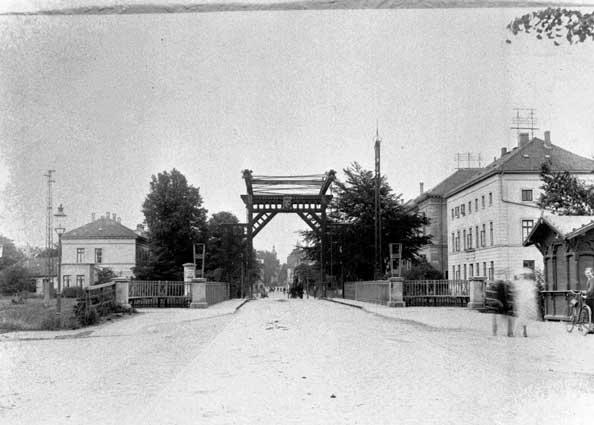 Cäcilienbrücke Ansicht Osternburg vor 1926.