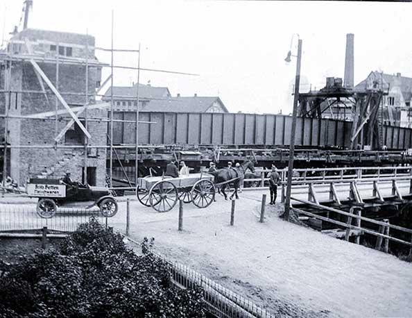 Cäcilienbrücke Baufortschritt.