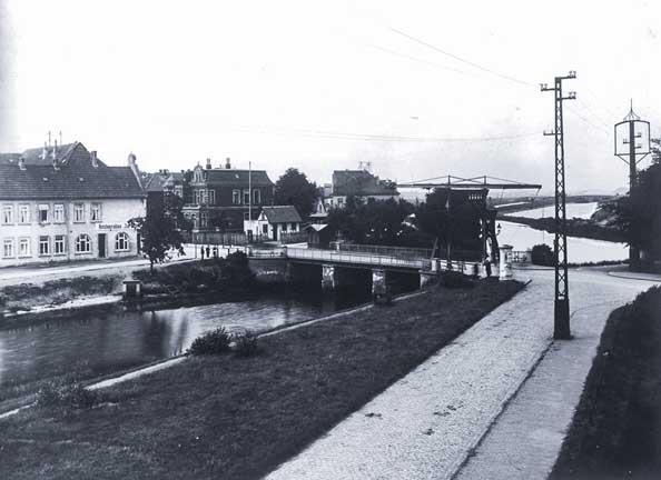 Cäcilienbrücke Küstenkanal vor 1926.